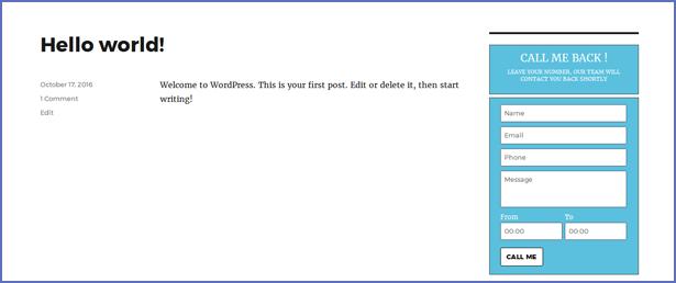 Call Me Back WordPress Plugin - 9