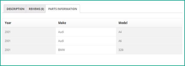 Chercheur de pièces de véhicules WooCommerce - Année/Marque/Modèle - 12